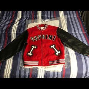 Supreme Bone Varsity Jacket Navy